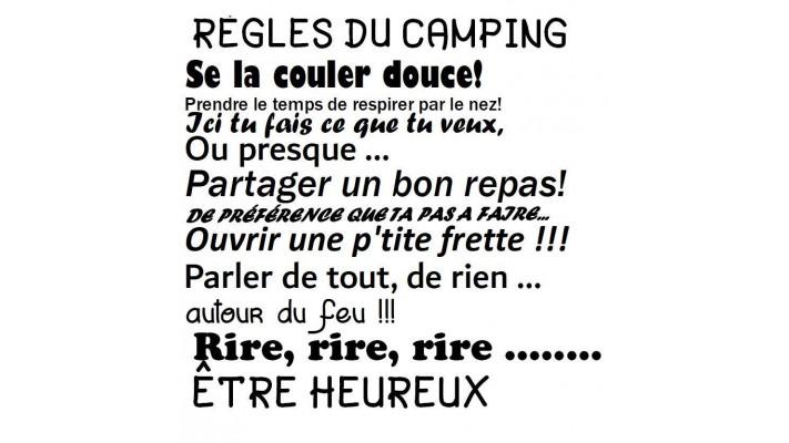 Règles du camping