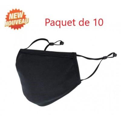 Masques réglables avec curseur EN PAQUET DE 10