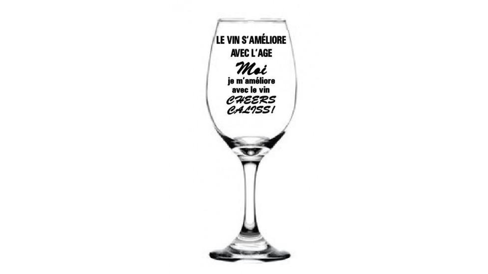 Le vin s'améliore avec l'âge, moi je m'améliore avec le vin!  Cheers Caliss!